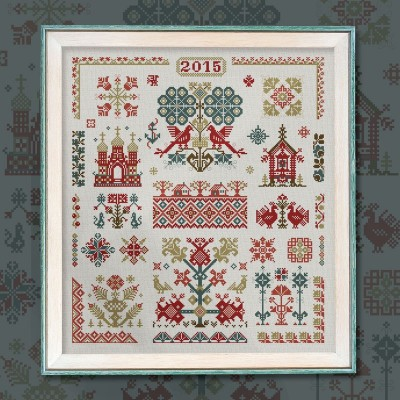 "Embroidery kit ""Russian Motifs"""