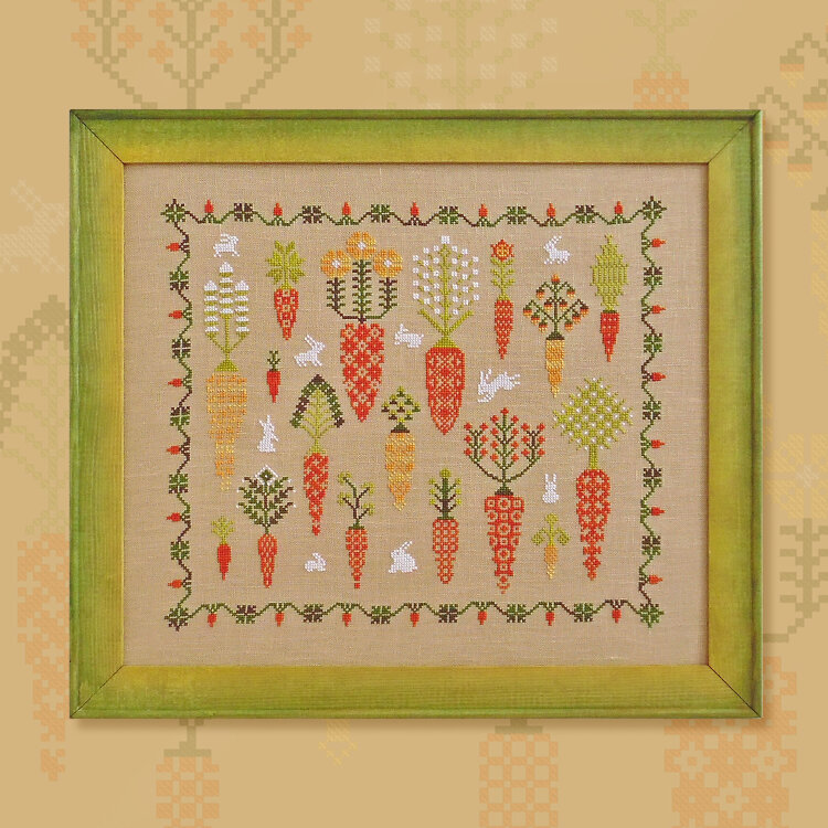"Embroidery kit ""Carrot Forest"""