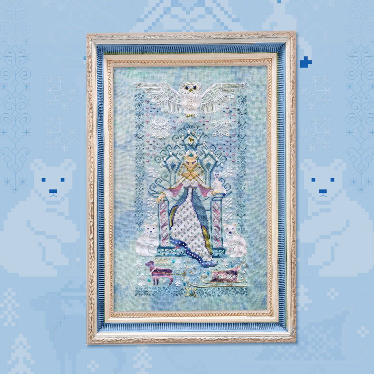 "Digital embroidery chart ""The Snow Queen"""