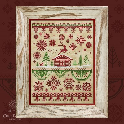 "Printed embroidery chart ""Silver Hoof. Christmas"""