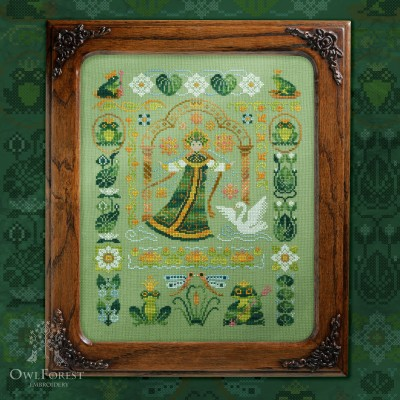 "Embroidery kit ""Princesses-frogs"""