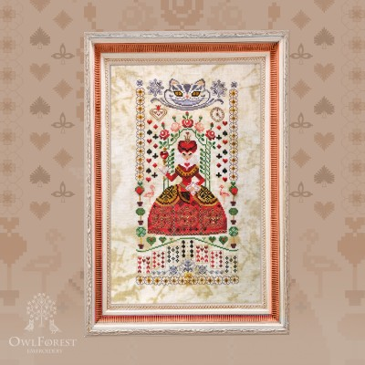 "Digital embroidery chart ""The Queen of Hearts"""