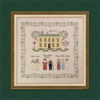 "Printed embroidery chart ""Pride and Prejudice. Part one. Longbourn"""