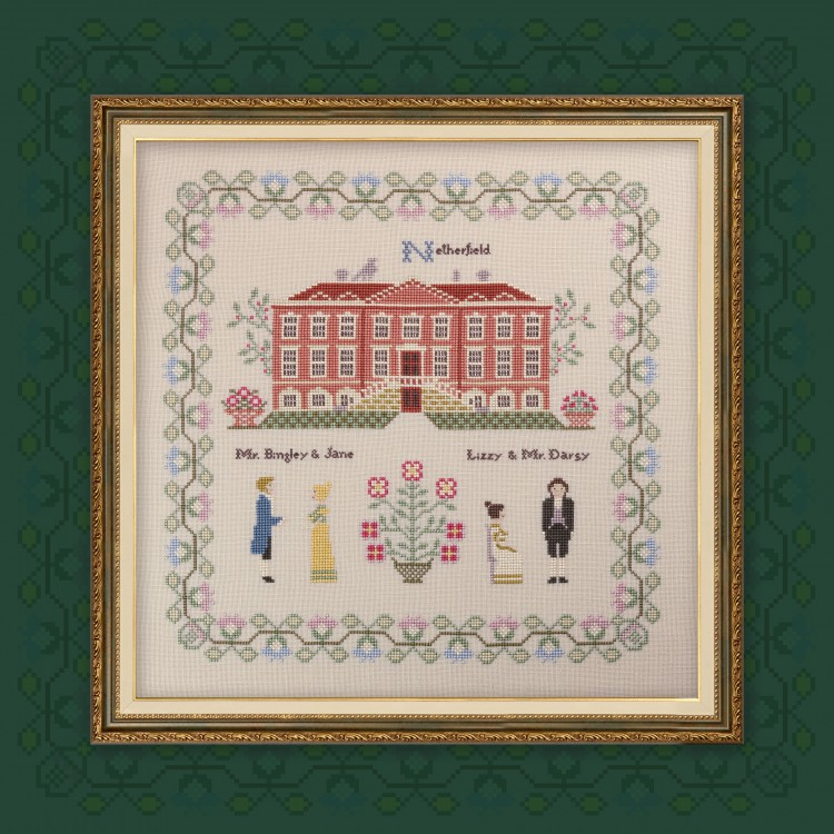"Printed embroidery chart ""Pride and Prejudice. Part two. Netherfield."""