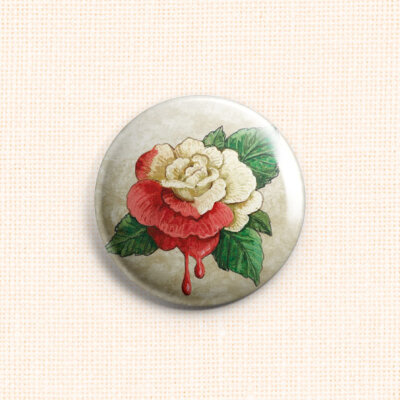 "Magnet Needle Minder ""Painted Rose"""