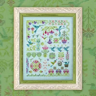 "Printed embroidery chart ""Hummingbirds"""