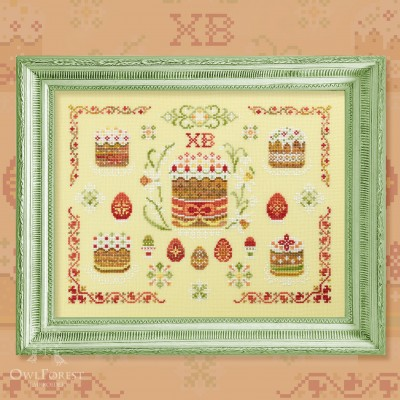 "Digital embroidery chart ""Easter Morning"""