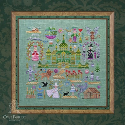 "Embroidery kit ""Emerald City"""