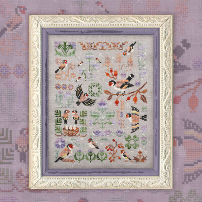 "Printed embroidery chart ""Goldfinches"""