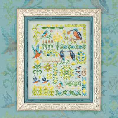 "Printed embroidery chart ""Kingfishers"""