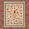 "Printed embroidery chart ""New Year Sampler with Russian Alphabet"""