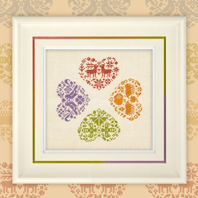 "Digital Embroidery Chart ""Love for All Seasons"""