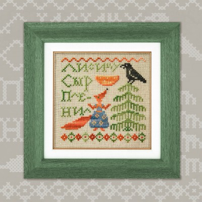 "Mini-Embroidery Kit ""Fables. Crow and Fox"""
