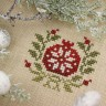 "Digital embroidery chart ""New Year Sampler with the English Alphabet"""