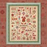 "Printed embroidery chart ""New Year Sampler with the English Alphabet"""