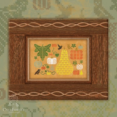 "Free embroidery digital chart ""Pretty Pumpkins"""
