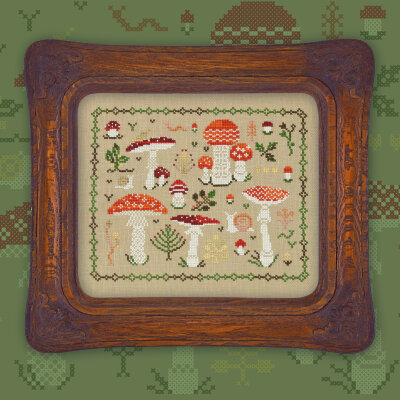 "Printed embroidery chart ""Fly Agarics"""