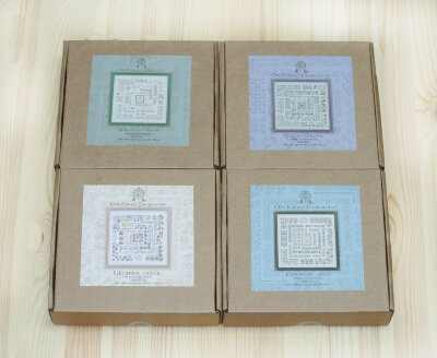 """Seasons"". Set of 4 embroidery kits"