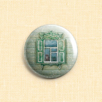 "Magnet Needle Minder ""Russian Window"""