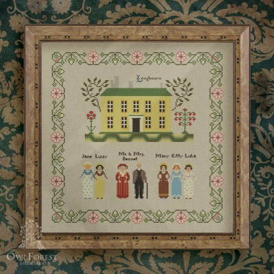 "Digital embroidery chart ""Pride and Prejudice. Part one. Longbourn."""