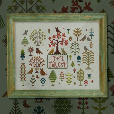 "Digital embroidery chart ""Owl Forest"""