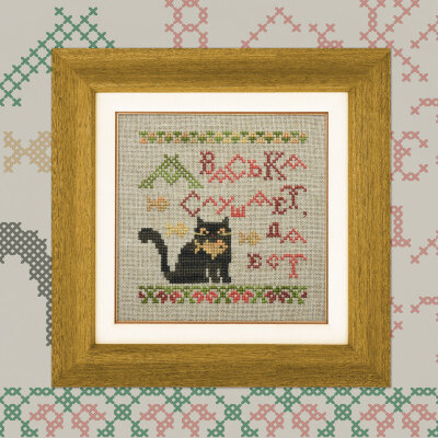 "Mini-Embroidery Kit ""Fables. Cat and Cook"""