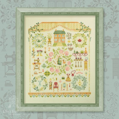 "Embroidery kit ""Sweet Home"""