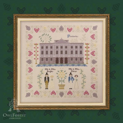 "Digital embroidery chart ""Pride and Prejudice. Part three. Pemberley."""