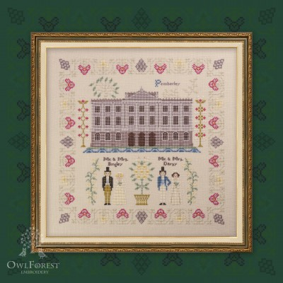 "Printed embroidery chart ""Pride and Prejudice. Part three. Pemberley."""