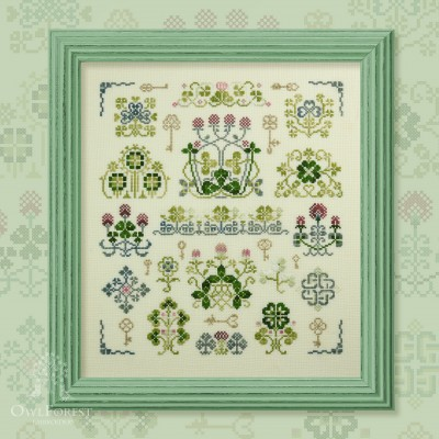 "Embroidery kit ""Duke Shamrock"""