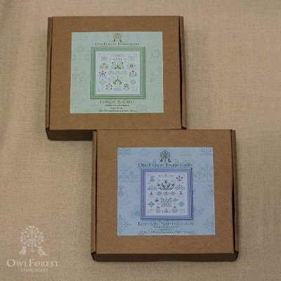 """King Thistle"" + ""Duke Shamrock"" Set of 2 embroidery kits"