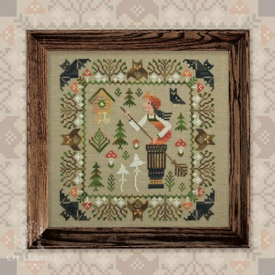 "Embroidery kit ""Baba Yaga"""