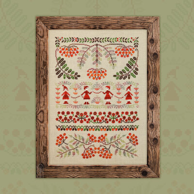 "Printed embroidery chart ""Ashberry Beads"""
