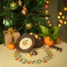 "Set of digital embroidery charts ""Tangerine Garland"""