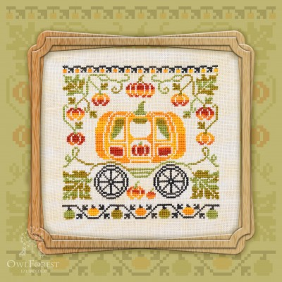 "Free embroidery digital chart ""Pumpkin Carriage"""