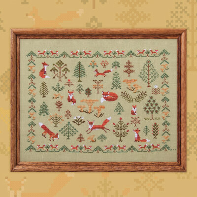 "Embroidery kit ""Fox Forest"""