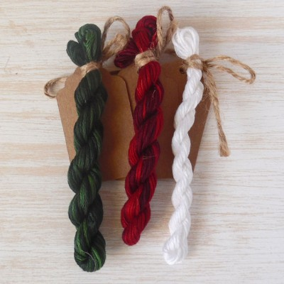 "Set of OwlForest Hand-Dyed Threads for the Embroidery Chart ""Silver Hoof. Christmas"" (Finca)"
