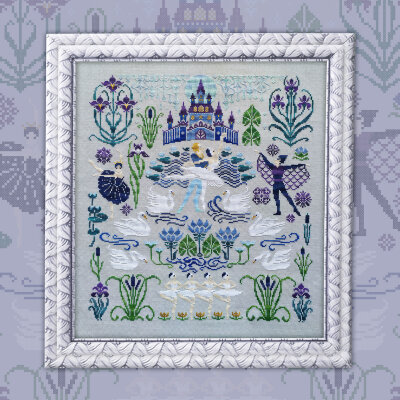 "Embroidery kit ""Swan Lake"""