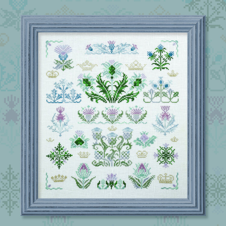 "Embroidery kit ""King Thistle"""