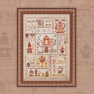 "Digital embroidery chart ""Coffee Sampler"""