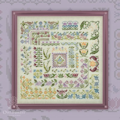"Embroidery kit ""Sparkling Spring"""