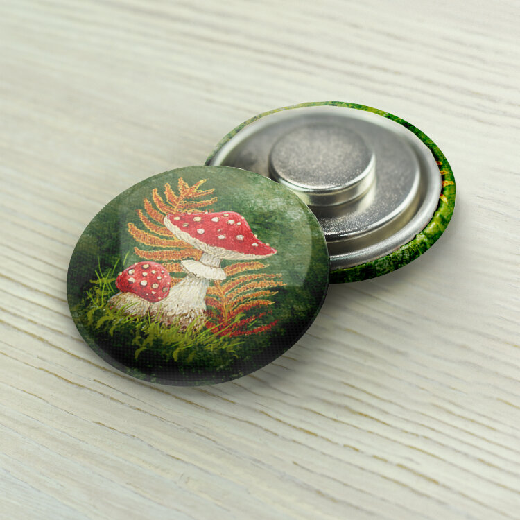 "Magnet Needle Minder ""Fly agarics"""