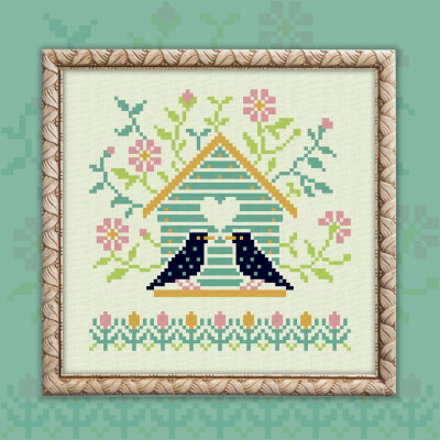 "Free embroidery digital chart ""Starlings"""