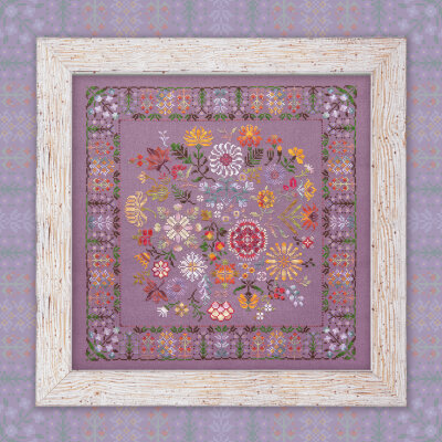 "Digital embroidery chart ""Autumn Flowers"""