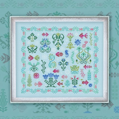 "Embroidery kit ""Underwater Garden"""