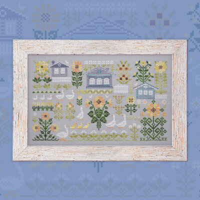 "Digital embroidery chart ""Geese and Sunflowers"""