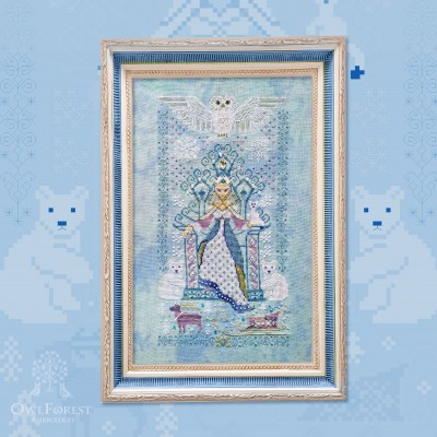 "Printed embroidery chart ""The Snow Queen"""