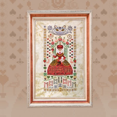 "Printed embroidery chart ""The Queen of Hearts"""