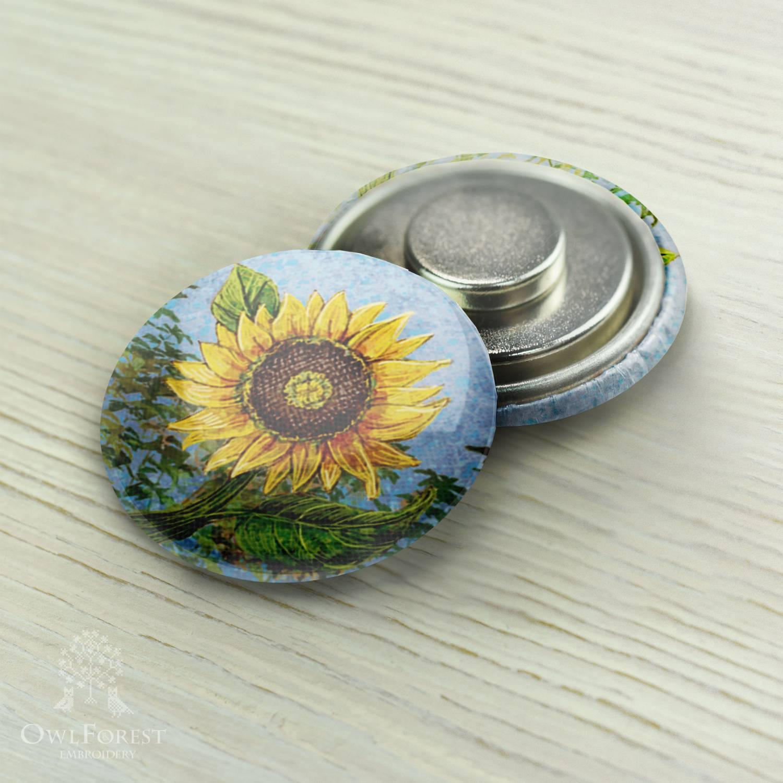 Needle minder 052 Sunflower   needle minder